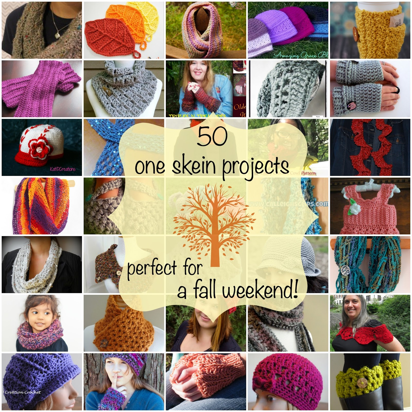Fiber Flux: 50 One Skein Projects Perfect for A Fall Weekend!