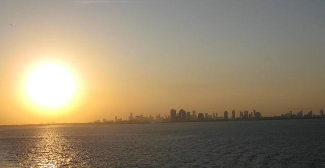 Blick auf Miami Beach bei Sonnenuntergang