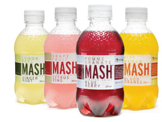 Mash low calorie sparkling fruit drink