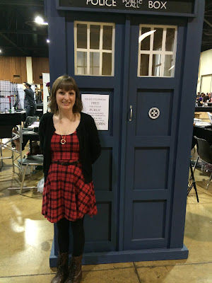 Nerdy for Nails with a Tardis at Eugene Comic Con- Eucon