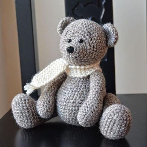 Crocheted stuffed bear