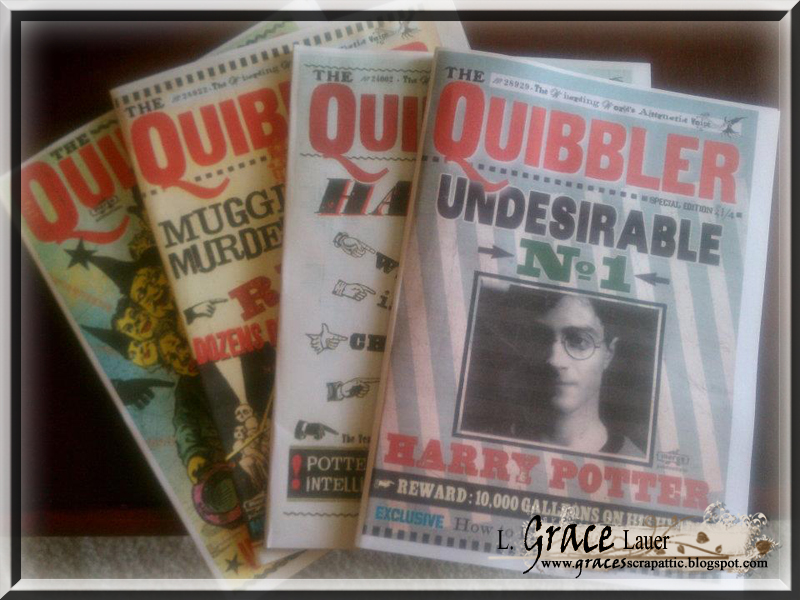 graphic about Daily Prophet Printable titled Uniquely Grace: Harry Potter Newsletter Props - Quibbler