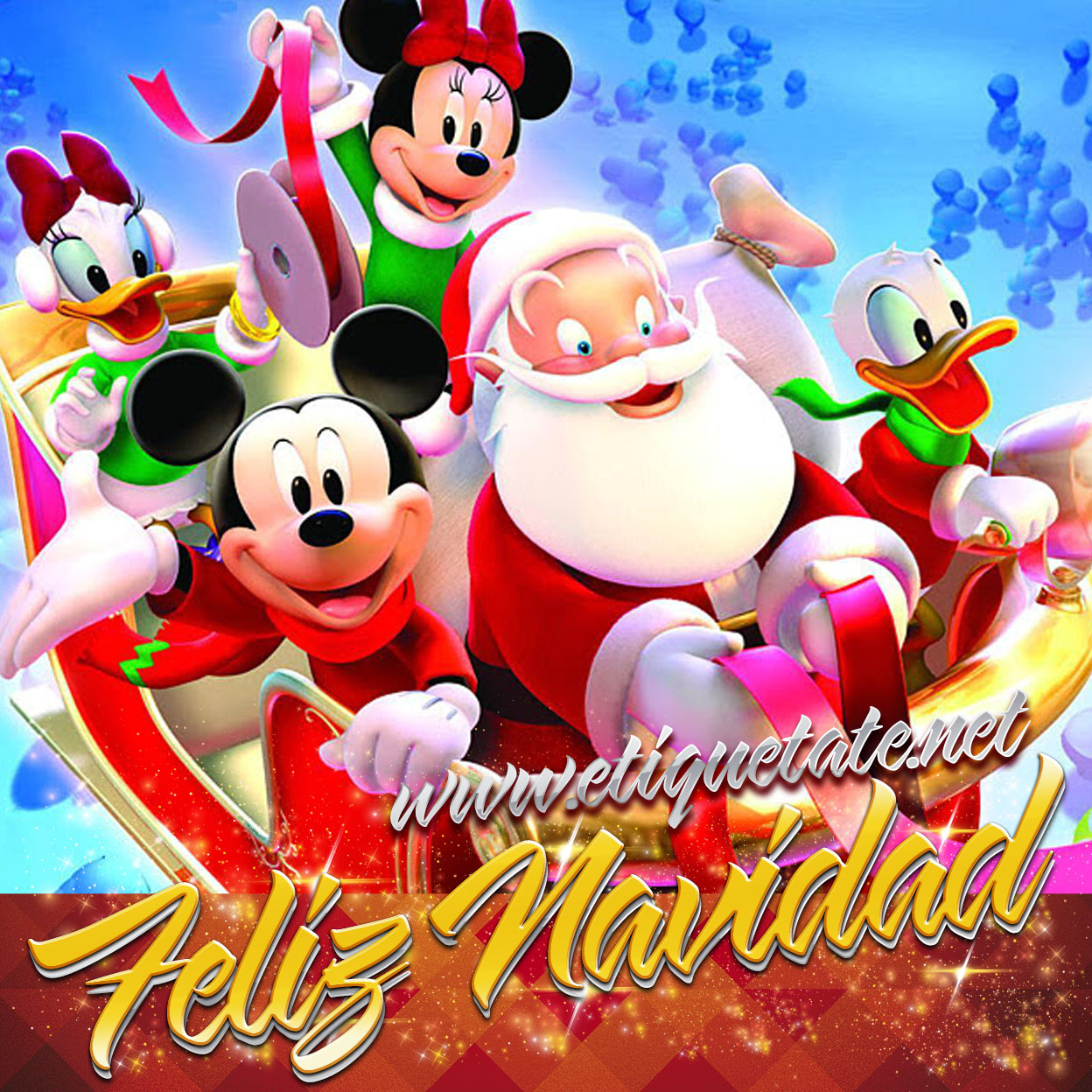 Imágenes Encantadoras de Mickey Mouse y Minnie para Navidad
