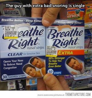 breathe right nose strips, nose strips, funny breathe right, snoring, forever alone