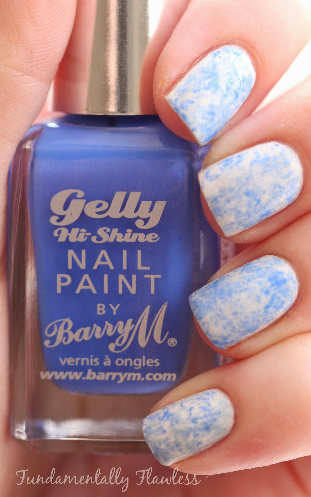 Barry M Damson Saran Wrap Bubble Wrap nails