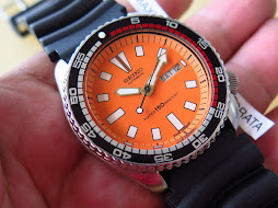 SEIKO DIVER 6309 7290 ORANGE DIAL RALLY BEZEL - AUTOMATIC