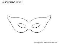 mardi gras mask template pdf