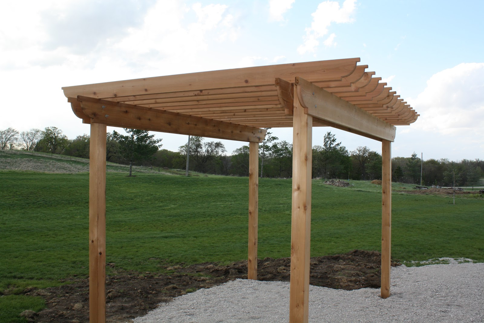 how to build a pergola the hansen family. Black Bedroom Furniture Sets. Home Design Ideas