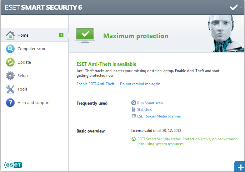 eset smart security license key