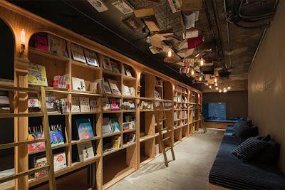Hotel biblioteca con más de 1000 libros