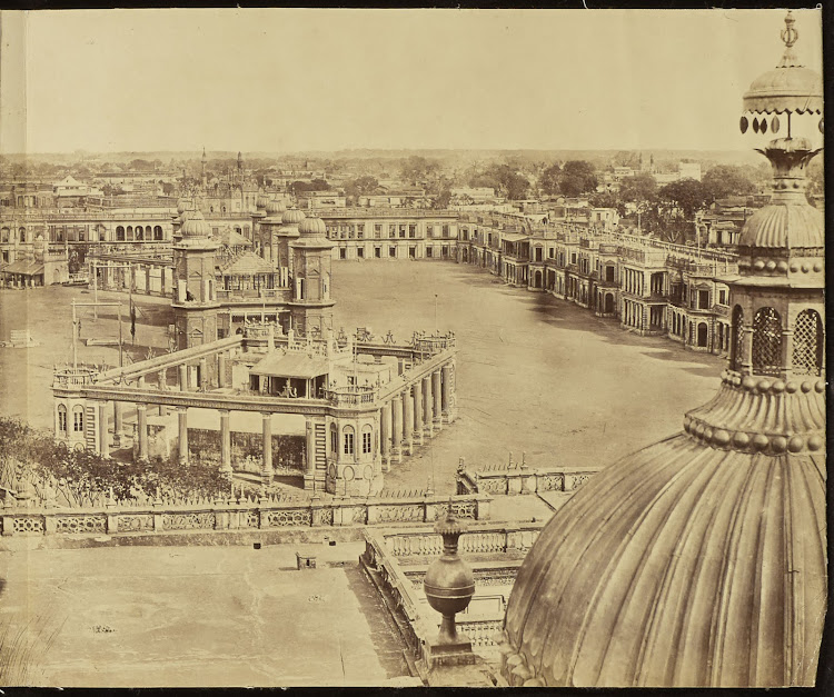 Panorama of Devastated Lucknow after Indian Mutiny, Taken from Great Imambara - 1858