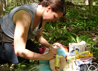 DSC01587 - diaper changing on the trail by jon.hayes, on Flickr