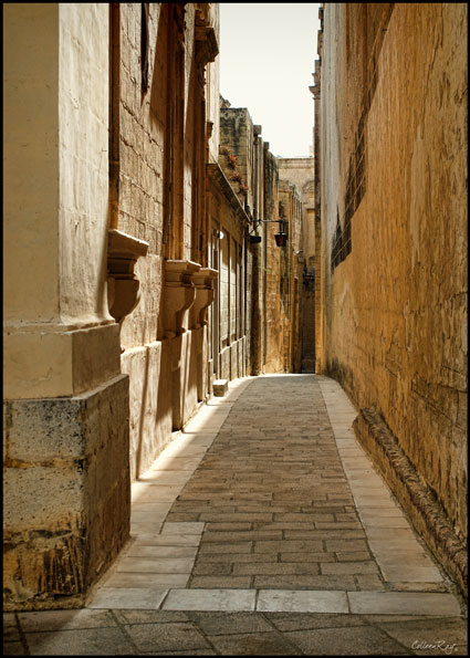 Empty passageways of Mdina, Malta's Silent City