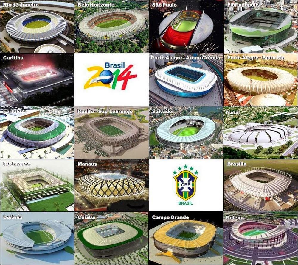 Sedes Brasil 2014