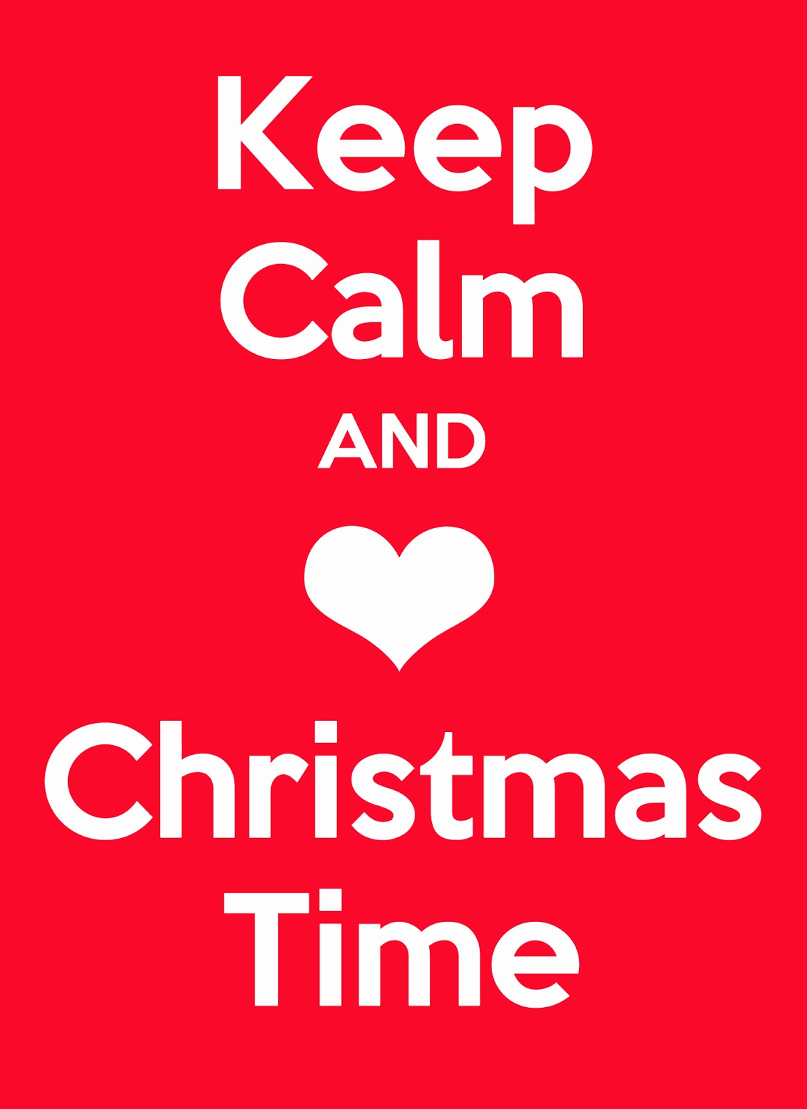 Keep Calm and Love Christmas Free Printable ~ Entirely Eventful Day