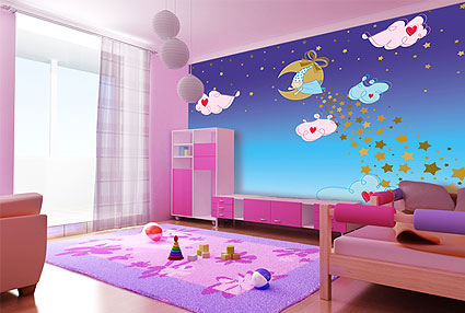 plafonds des chambres enfants id es d co moderne. Black Bedroom Furniture Sets. Home Design Ideas
