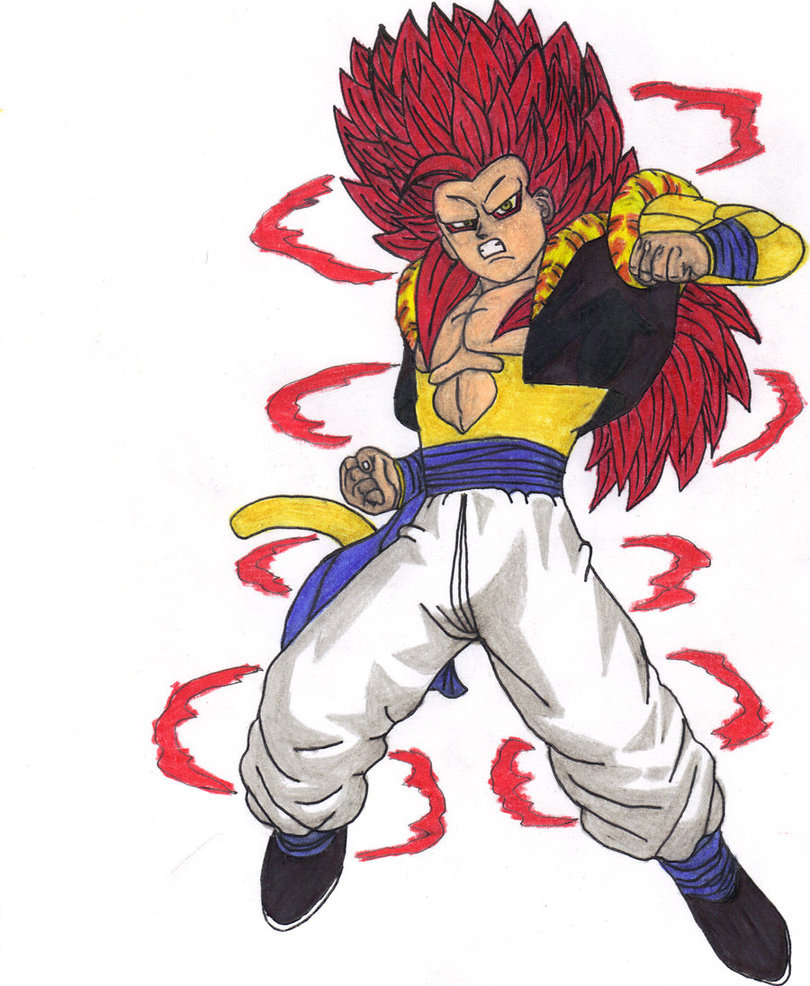 how to draw gogeta super saiyan 4