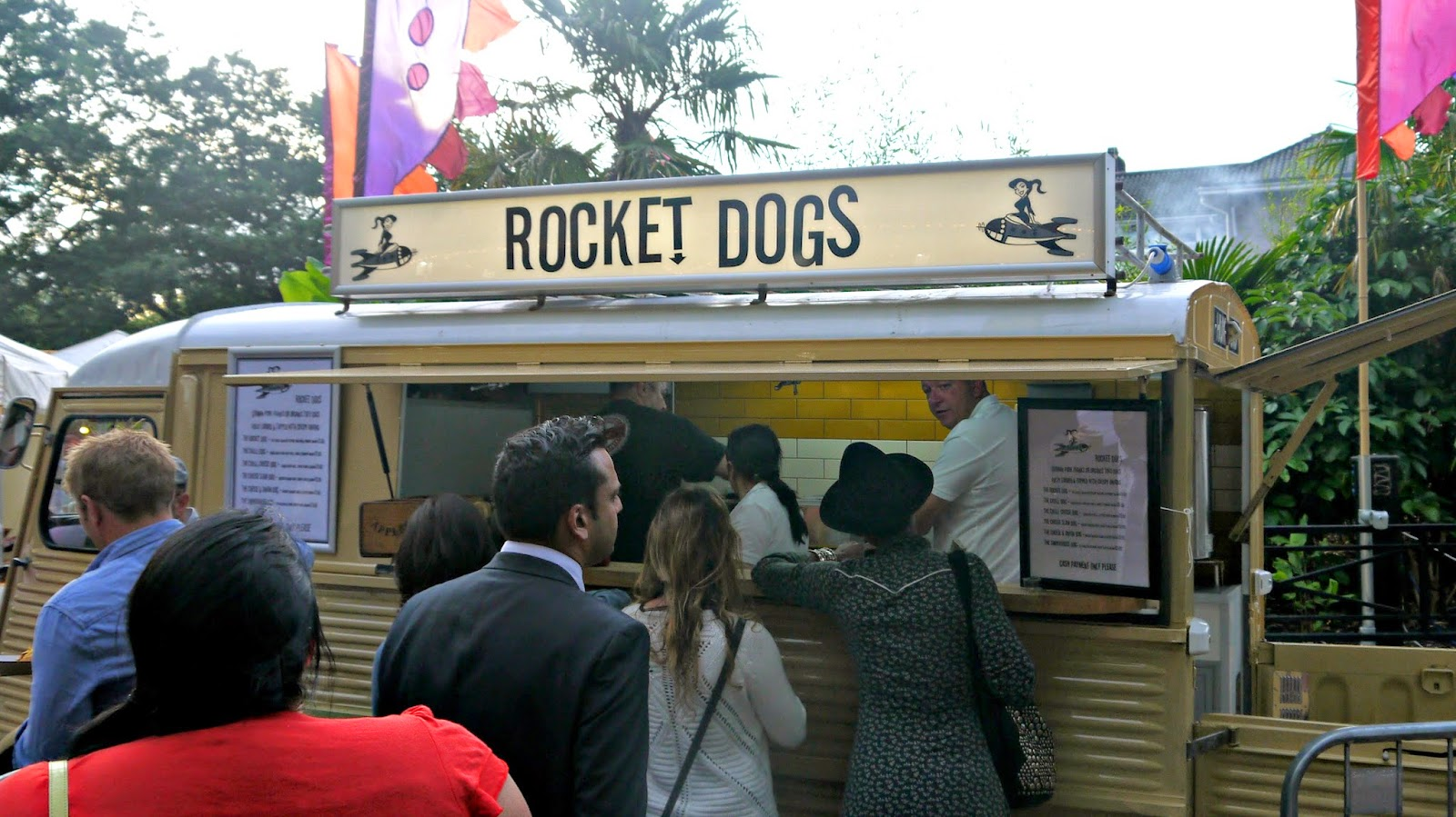 London Zoo lates Rocket Dogs hot dogs