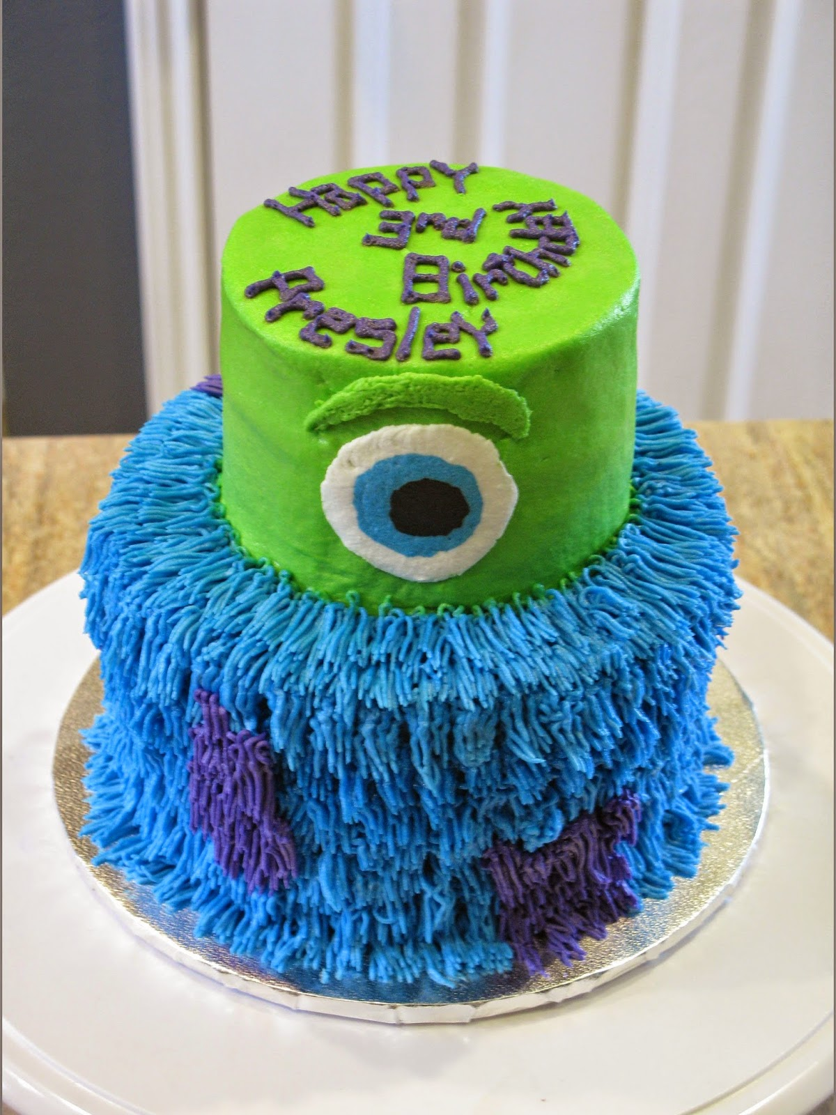 A Counselors Confections Monsters Inc Birthday Cake