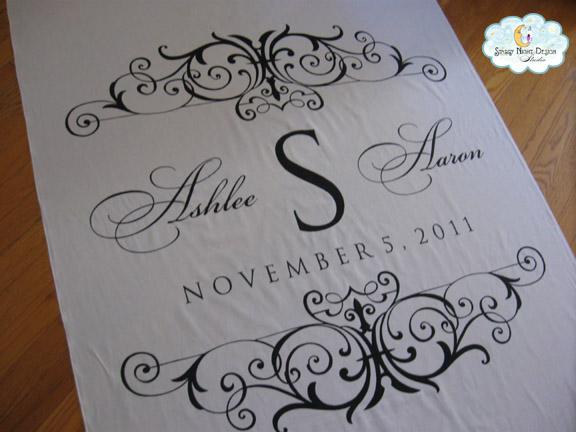 Monogram Wedding Aisle Runner