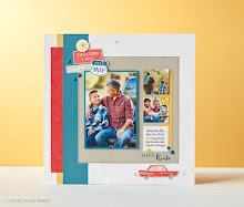 June  Stamp of the Month Scrapbook Page