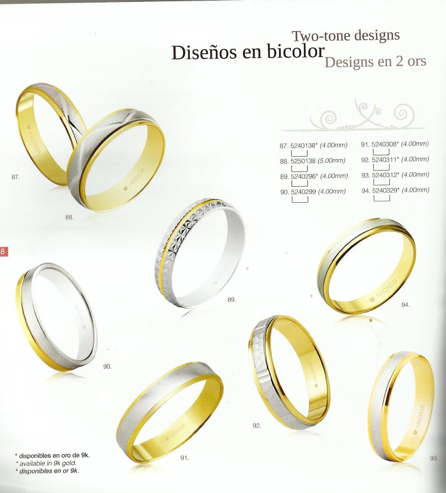 Oro blanco, amarillo, brillo, mate, con brillantes...