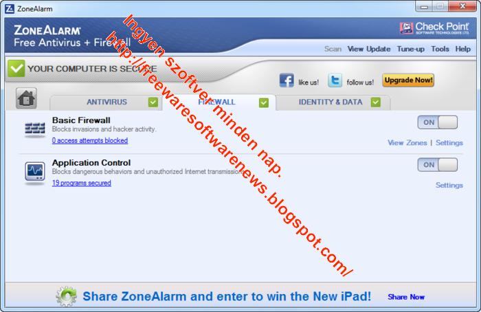 freeware zone alarm: