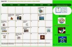 Calendário do Mês de JUNHO