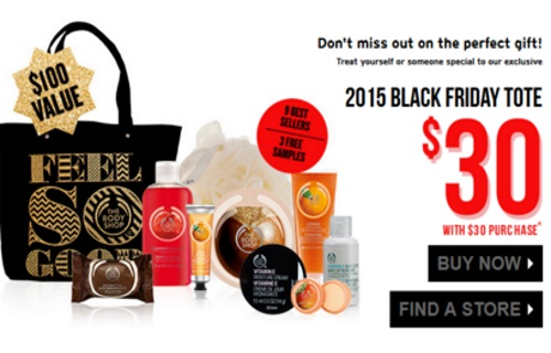 The Body Shop Back Friday Tote + Mix & Match 3 For $33