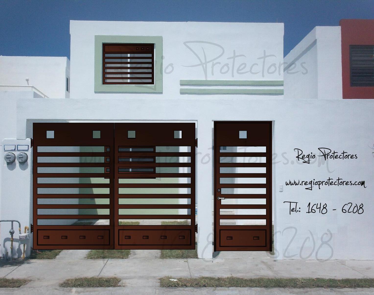 Top puerta portones protectores images for pinterest tattoos - Puertas de dos hojas ...