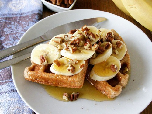 Healthy Wholemeal Vegan Waffles