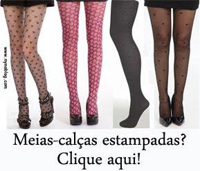 Quer comprar meia-calça de lacinho, corações ou estampada? Clique aqui!