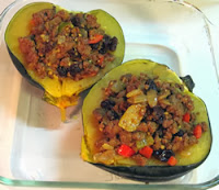 stuffed acorn squash with curried meat