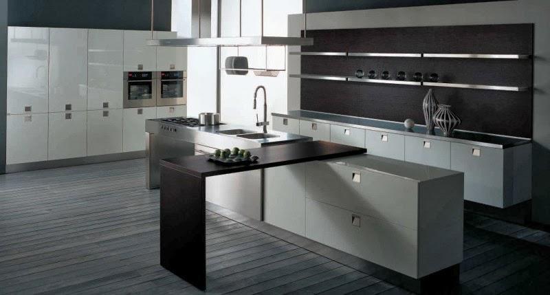 ide desain dapur dengan warna gelap