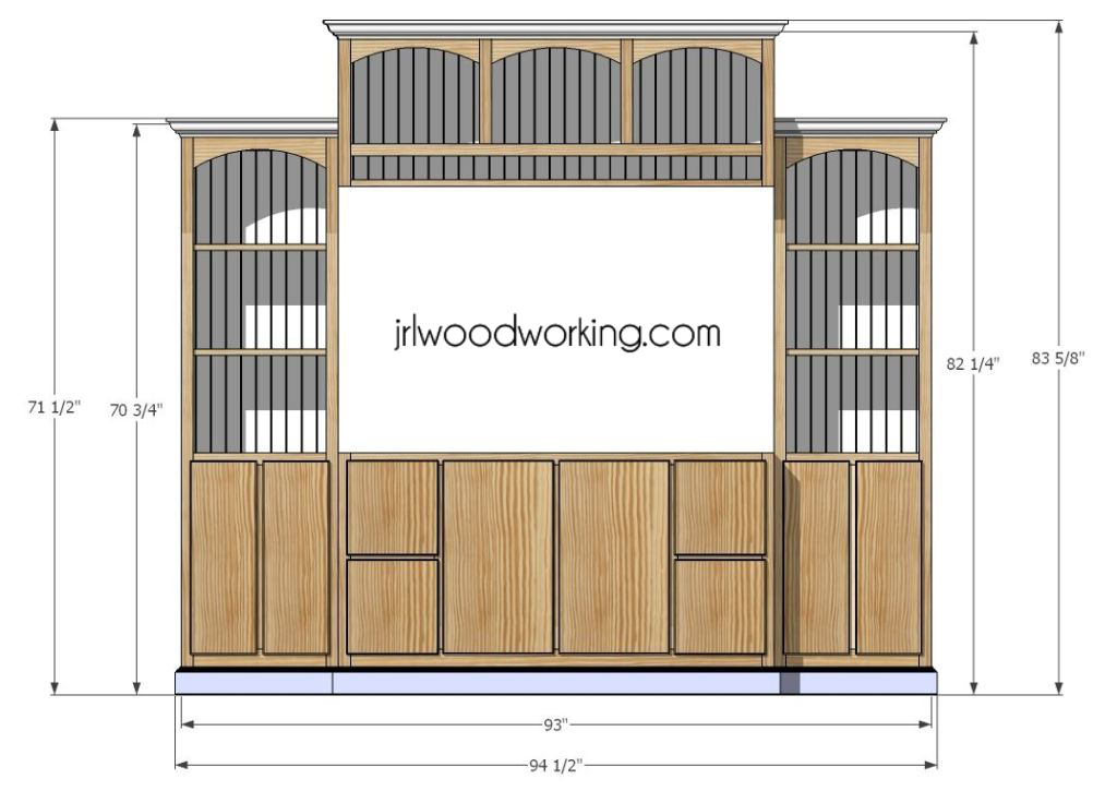 custom entertainment center plans
