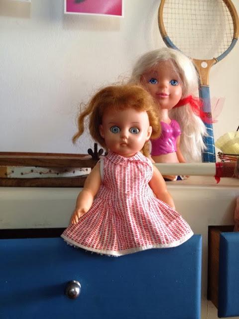 brinquedos, vintage, natal, bonecas, a Porta Verde