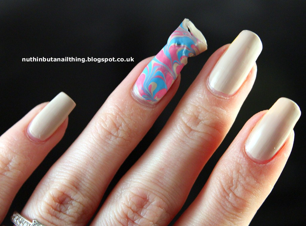 nuthin\' but a nail thing: Dry Water Marble Nails Tutorial