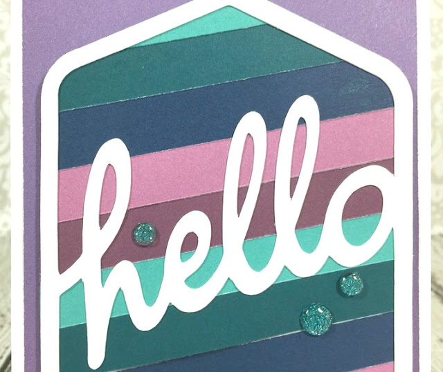 Cricut Hello Gradient card
