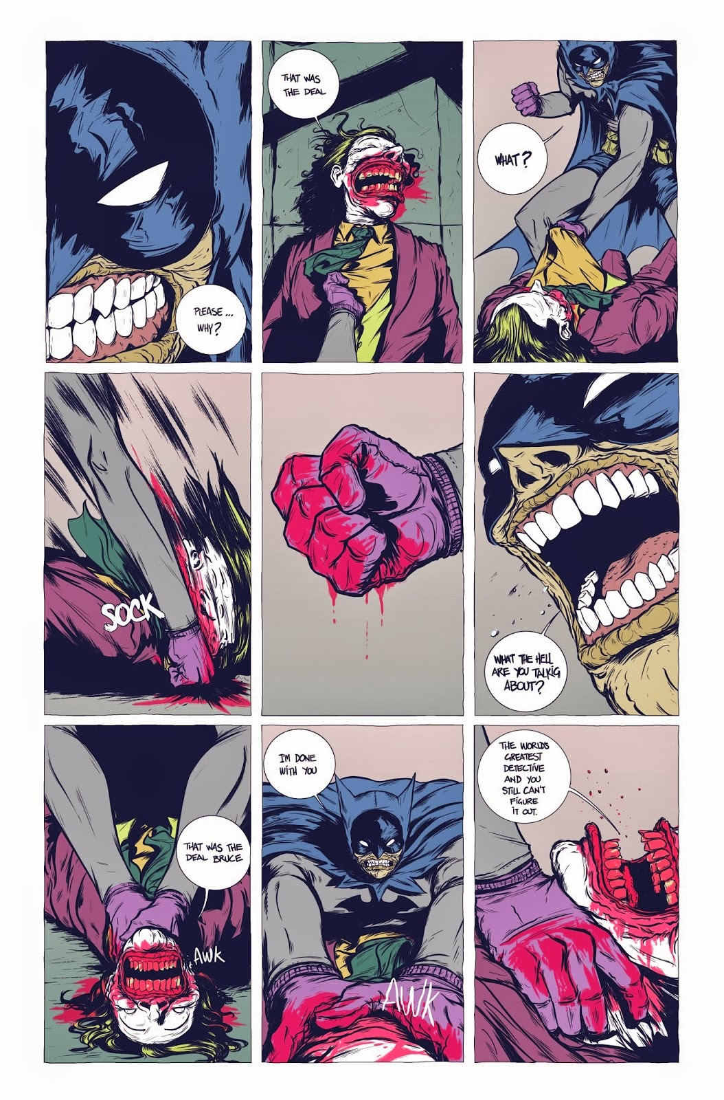 batman, batman the deal, daniel bayliss, gerardo preciado, moonhead batman, graphic novel batman, batman and joker, batman e coringa,