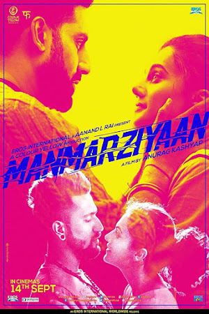 Poster Of Bollywood Movie Manmarziyaan 2018 300MB Pdvd Full Hindi Movie