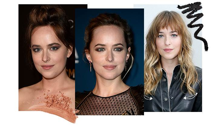 Dakota Johnson: Looks Olhos bronze, Rock chic e Smokey eyes
