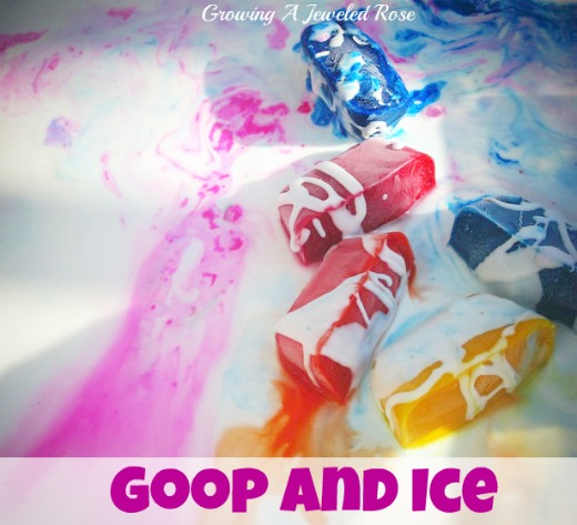 Goop amd ice sensory activity