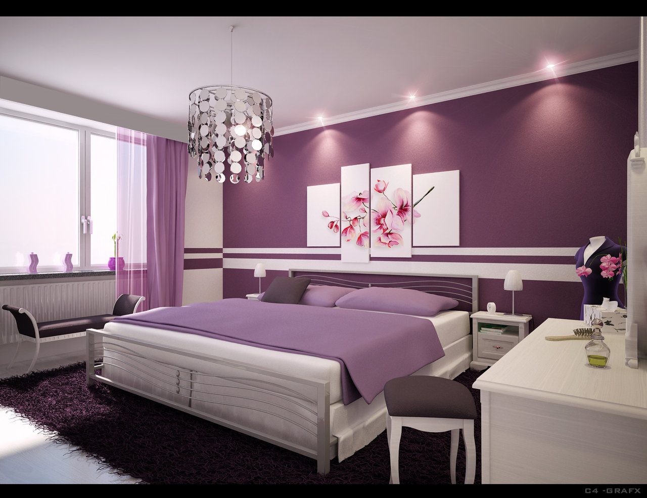 The nice living room ideas purple living room set ideas for Idea bedroom
