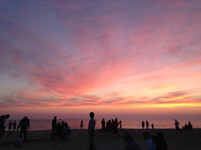Sunset on Ludington beach