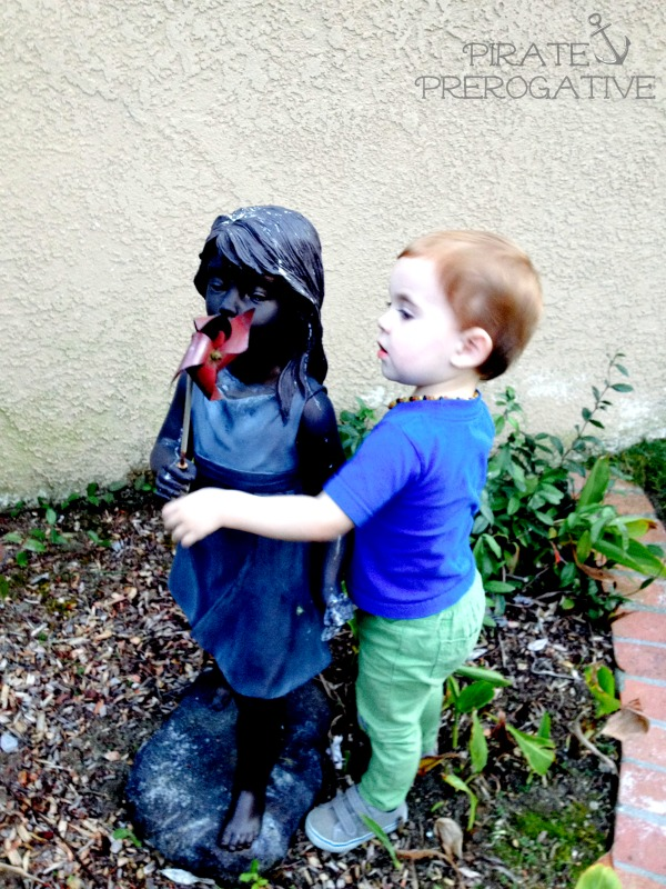 Shiver Me Timbers Tuesday: Is he hugging her or trying to steal her pinwheel?