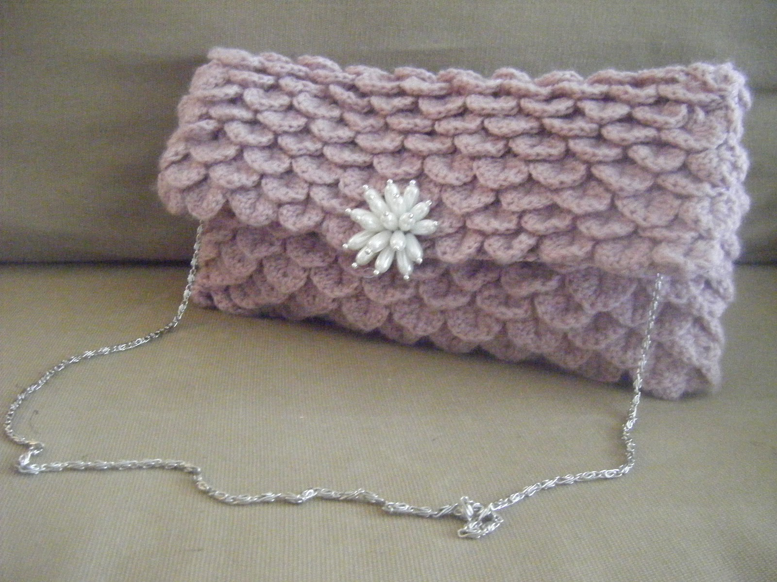 Crochet Clutch Pattern : Best Patterns: Clutch Crocodile Oversize Crochet Pattern