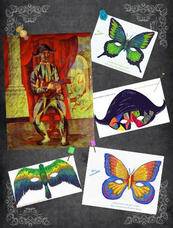 antifaces gratis para colorear niños adultos