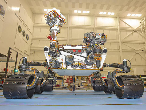 Sonda ou robô Curiosity em Marte ou Mars em inglês