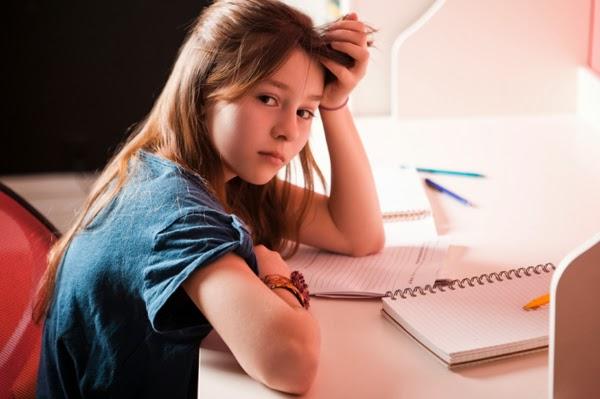 What teens do when doing homework
