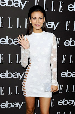 Victoria Justice Sexy white mini dress at ELLE Women In Music